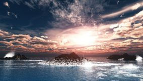 Love dance between sea and sky Royalty Free Stock Photography