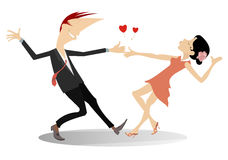 Love Dance Young Couple Royalty Free Stock Images