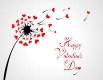 Love Dandelion. Design of a dandelion with hearts royalty free illustration