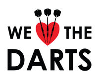 We love the darts Stock Images