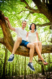 Love - date on tree Stock Photos