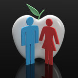 Love Dating. Computer generated image three dimensional male female Stock Photos