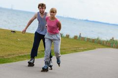Cheerful couple enjoying ride together. Royalty Free Stock Photos