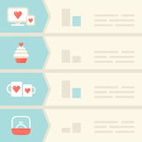 Love, Dating, Relations Infographic Elements Stock Photo