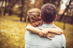 Love of daughter and father. royalty free stock photos