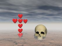Love and death - 3d rendering Royalty Free Stock Image