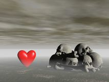 Love and death - 3d rendering Stock Photography