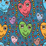 Love deco cute seamless pattern Stock Photos
