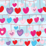 Love decor hang seamless pattern Stock Image