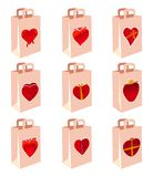 Love decoration shopping bag Stock Image