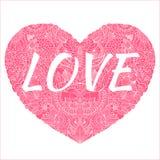 Love2. Delicate Henna Mehndi Paisley Pattern Heart Vector Illustration Background Royalty Free Illustration