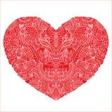 Love. Delicate Henna Mehndi Paisley Pattern Heart Vector Illustration Background Stock Photography