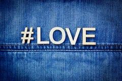 Love on Denim Stock Photo