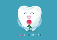 Love dentist from tooth Stock Photos