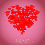 Love design background for St.Valentine`s Day. Stock Photos