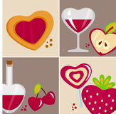 Love design elements Stock Image