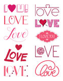 Love Design Elements Three Stock Images