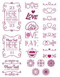 Love Design Elements Two. A collection of love design elements Stock Photo