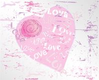 Love design with a heart, grungy Royalty Free Stock Photos