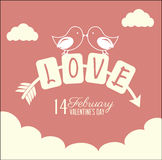 Love. Design over  dotted background vector illustration Stock Photo