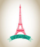 Love. Design over pattern  background vector illustration Royalty Free Stock Images