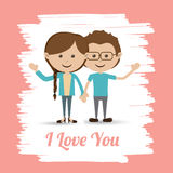 Love design over pink background vector illustration Royalty Free Stock Photography