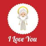 Love design over red background vector illustration Stock Image