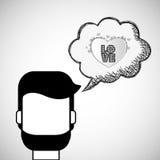 Love design. Romantic icon. Colorfull illustration,  graph Royalty Free Stock Photo