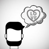 Love design. Romantic icon. Colorfull illustration,  graph Stock Photos