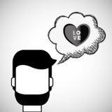 Love design. Romantic icon. Colorfull illustration,  graph Royalty Free Stock Image