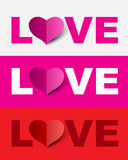 Love design set. Royalty Free Stock Photos