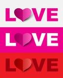 Love design set. Royalty Free Stock Photos