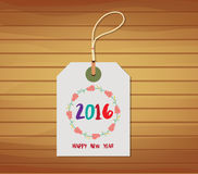 Love design for your new year 2016 with tag.  Royalty Free Stock Images
