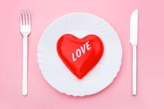 Love dessert Royalty Free Stock Photography