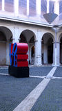 €œLove di mostra L'arte contemporanea incontra il  di Amour†a Chiostro del Bramante, Roma Immagine Stock
