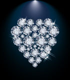 Love diamond heart, valentines day card Royalty Free Stock Photos