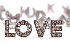 Love (diamond letters) Stock Photography