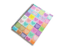 Love Diary Stock Photos