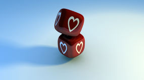 Love dice Royalty Free Stock Photo