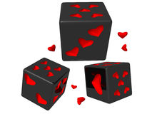 Love dice vector illustration