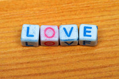 Love dice letters Royalty Free Stock Image