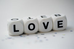 Love, dice letters Royalty Free Stock Image