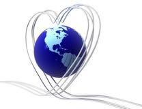 Love In Digital World Royalty Free Stock Photos
