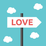 Love direction road sign Stock Image