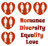 Love and diversity Royalty Free Stock Images