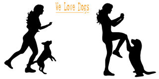We love dogs Royalty Free Stock Photo