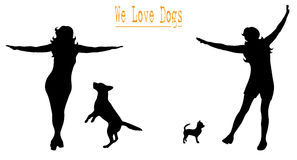 We love dogs Stock Image