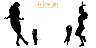 We love dogs Royalty Free Stock Photography