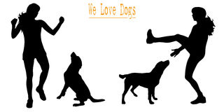 We love dogs Royalty Free Stock Image