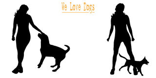 We love dogs Royalty Free Stock Photos